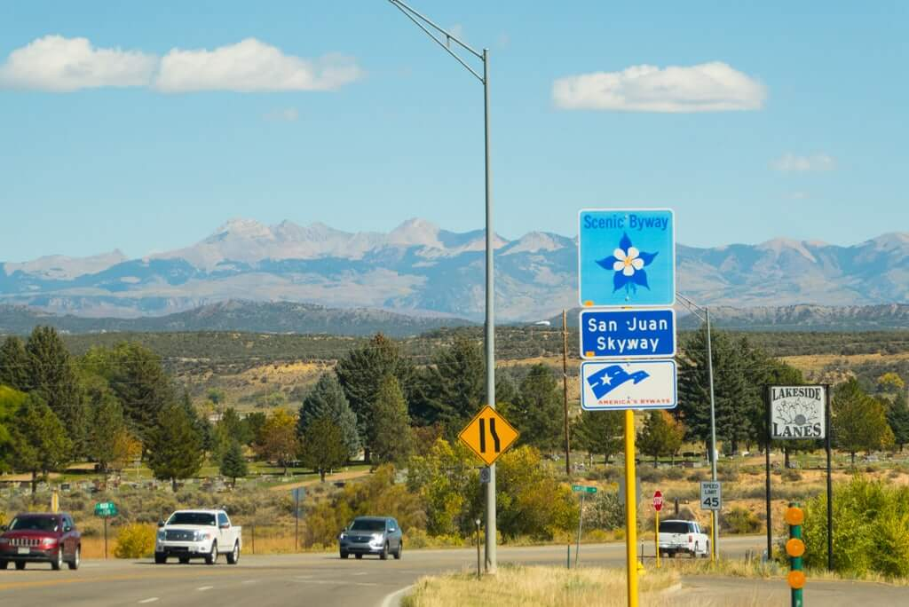 Driving to Mesa Verde, San Juan Mountains