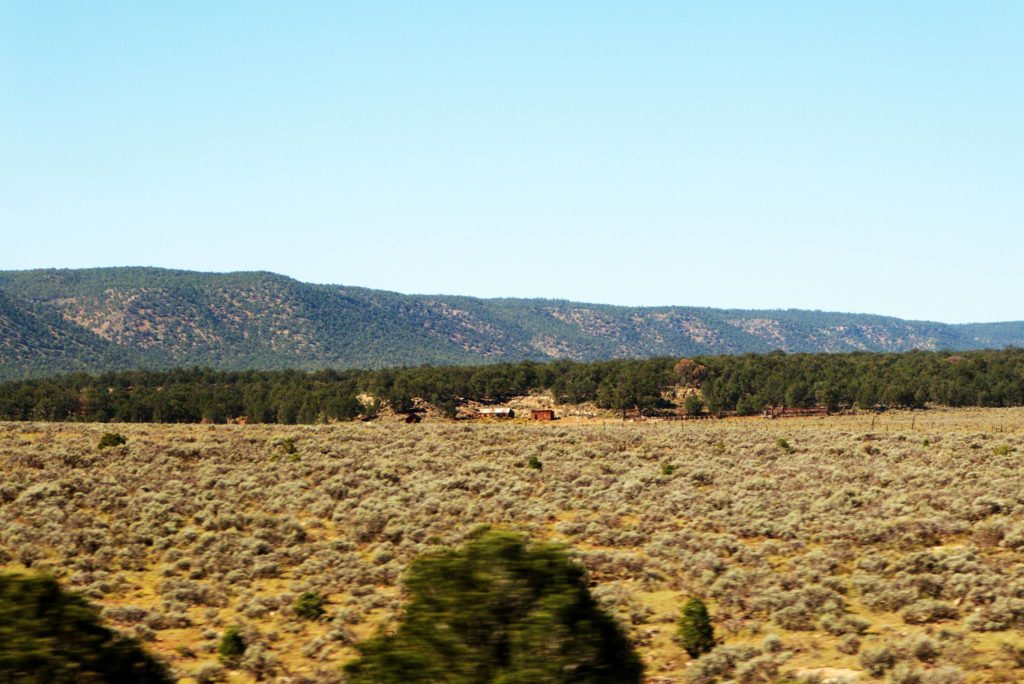 Driving from Grand Canyon to Monument Valley, scenery along the way.