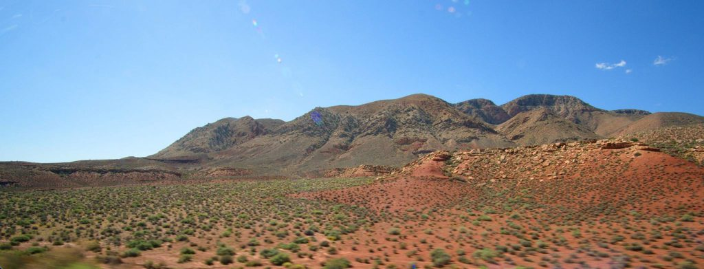 Mountains along route 64 in Arizona