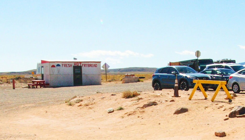 Navajo fry bread shop