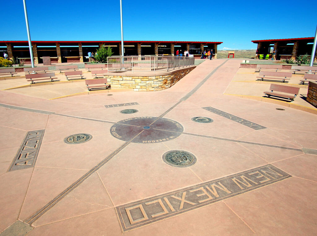The Four Corners Monument. Arizona, Utah, Colorado, New Mexico. USA