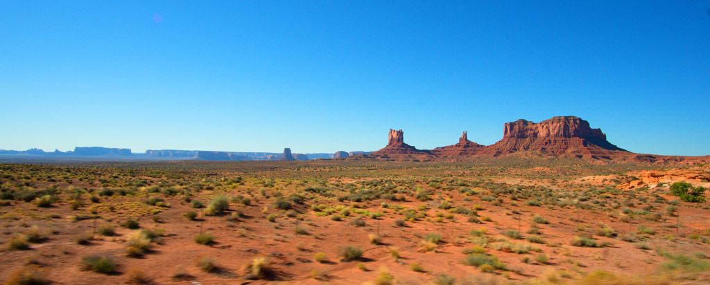 Leaving Monument Valley on I-163 North