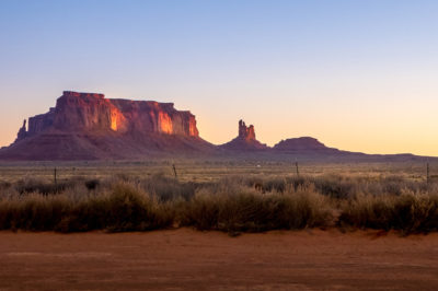 sunrise monument valley